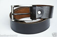 Brown Whole Grain (Mahja) Premier Quality Cow Hide Leather Belt 35mm Width