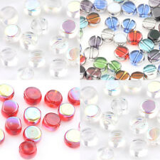 Practical 20Pcs Mixed Crystal Glass Round Flat Charms  Loose Spacer Beads DIY