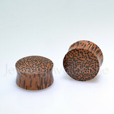 Body Jewelry Pair of Double Flare Handmade Solid Coconut Wood Organic Ear Plugs