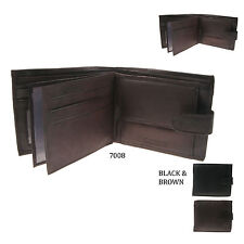 Mens High Quality Real Leather Euro Hide Credit Card Holder Wallet 7008