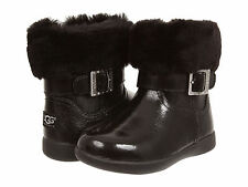 Toddler UGG Australia Gemma Patent Leather 1005149T Black 100% Authentic B. New