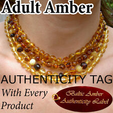 Authentic BALTIC AMBER ADULT NECKLACE natural health