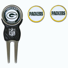 Green Bay Packers NFL Team Golf Divot Tool with 3 Magnetic Ball Markers