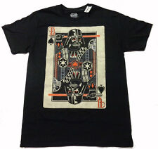 STAR WARS DARTH VADER POKER DECK OF CARDS LIGHTSABER MOVIE MEN'S NEW T-SHIRT