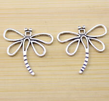 15/30/100 pcs Retro style Very beautiful dragonfly alloy charm pendant 30x27 mm