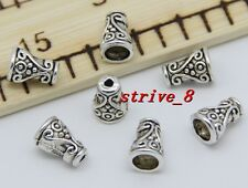 Lot 15/60/300pcs Tibetan Silver Flower Bead Caps Jewelry Charms Beads Cap 10x7mm
