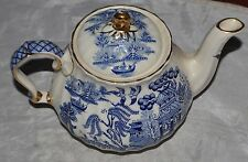 Blue Willow - SADLER Made in England-Teapot- FREE SHIPPING