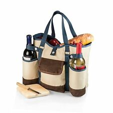 Wine Country Tote Two-Bottle Wine Tote Cheese Service Adjustable Shoulder Strap