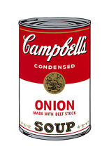 Campbell's Soup I: Onion, c.1968 by Andy Warhol, Pop Art Wall Art