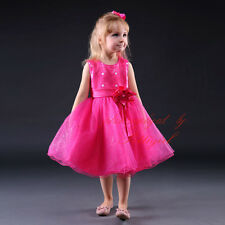 Sequin Flowers Tulle Girls Dress Pageant Wedding Party Formal Occasion Christmas