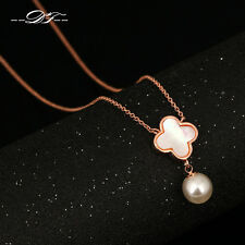 Mother of Pearl Shell Flower Chain Necklaces&Pendants Fashion Jewelry  For Women