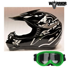 Youth Motocross Helmet - Kids Child, Black, XS S M L XL Aust Std, Dirt bike Quad