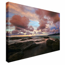 Moody Sunset with Seascape Canvas wall Art prints high quality great value