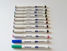 Creative Memories Fine-Tip~Round-Tip~Bold-Tip Color Pens~~Used