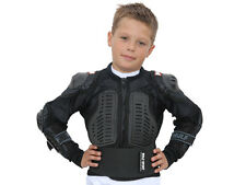 WULFSPORT CUB KIDS BODY ARMOUR MOTORBIKE MOTO CROSS SAFETY JACKET CHILD BLACK