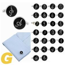 Mens Wedding Cufflinks Novelty Fancy Letters & Clean Cloth