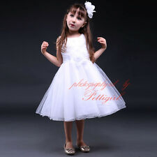 Girl Princess Party Dresses Flower Tulle Wedding Bridesmaid Prom Recital Dress