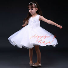 Embroidered Sequins Formal Girls Dresses Flower Princess Party Ball Gown Recital