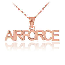Rose Gold AIRFORCE Pendant Necklace
