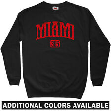 Miami 305 Sweatshirt - Florida Heat Dolphins Marlins Beach Crewneck - Men S-3XL