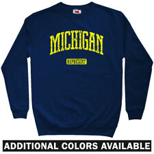 Michigan Represent Sweatshirt - State Spartans MSU Detroit Crewneck - Men S-3XL