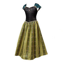Girls Shining Flower Party Fancy Dress Child Kids Princess Anna Cosplay Costume