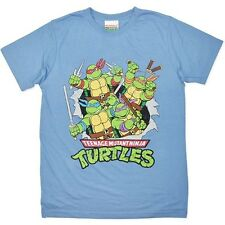New Mens Licensed Teenage Mutant Ninja Turtles T Shirt, Distressed Print, S-XXL