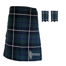 MENS SCOTTISH TARTAN DELUXE 8YD KILT & FLASHES SET - DOUGLAS - SIZES!
