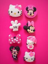 Jibbitz Croc Clog Shoe Charm Plugs Bands Belts 8 Minnie Mouse Hello Kitty Bows