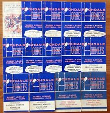 Rochdale Hornets Rugby League Programmes 1959 - 1978