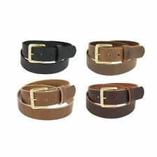 "Genuine Buffalo Leather Belt_1 1/4"" wide_Amish Handmade_SOLID BRASS Buckle_131"