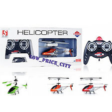Double Horse 9102 9098 3.5 Ch Metal Frame Gyro RC RFT Helicopter + Spare Parts