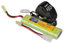 1x 9.6V NiMH 2800mAh Battery Pack + Charger RC Airsoft