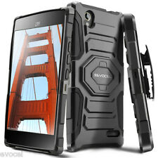 Evocel® ZTE Warp Elite (N9518) Rugged Holster Case w/ Kickstand & Belt Clip