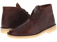 Men's Shoes Clarks Desert Boot Lace Up Chukka Boots 12779 Rust Leather *New*