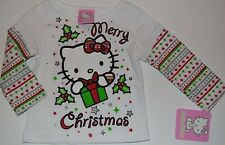 Hello Kitty Long Sleeve Girls T-Shirt Size 12 Months Holiday Christmas Tee Top