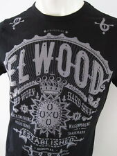 ELWOOD Mens Latest Premium Top Tee T-Shirt Size S M L XL XXL black fox