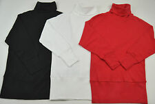 BRAND NEW LADIES PURE RED/WHITE/BLACK COTTON BATWING ROLL NECK TOP SIZE 10/12/14