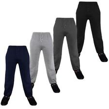 Mens Tracksuit Cuffed Bottoms Fleece Trackies Gym Jogging Joggers Sweat Pants