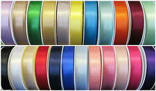 30 COLOURS BERISFORDS DOUBLE FACED SATIN RIBBON 10mm 15mm 25mm & 35mm