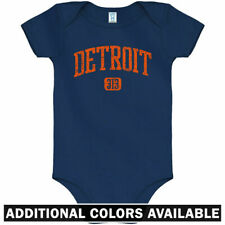Detroit 313 One Piece - Tigers Lions Red Wings Baby Infant Creeper Romper NB-24M