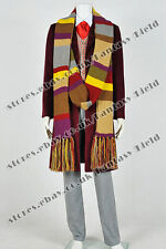 Doctor Who 4th Fourth Dr Tom Baker Daily Uniform Cosplay Costume Full Set