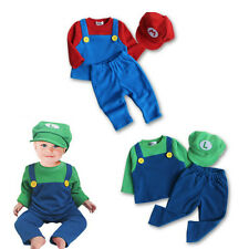 Baby Toddler Halloween & Christmas Party Outfit, Super Mario Quality Set 6-24M