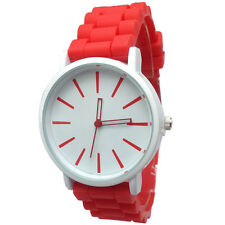 Fashion Lovely Jelly Strap Silicone Concise Analog Dial Women's Wrist Watches