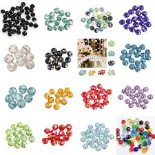 Hotsale Glass Crystal Faceted Rondelle Spacer Loose Beads 6/8/10/12/14/16/18mm i
