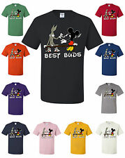 Best Buds Funny T-Shirt Cartoon Parody Smoking Weed 420 Kush Dope