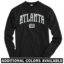 Atlanta 404 Long Sleeve T-shirt LS - Braves Hawks Falcons Georgia - Men / Youth