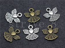 20/80/400pcs Antique Silver Exquisite Little Angel Jewelry Charm Pendant 12x11mm