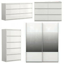 Chelsea Wardrobe/Chest of Drawers/Bedside Chest - Gloss Effect - Free Delivery
