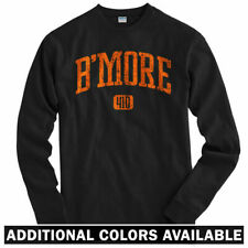 B'More 410 Baltimore Long Sleeve T-shirt LS - Orioles Ravens Club - Men / Youth
